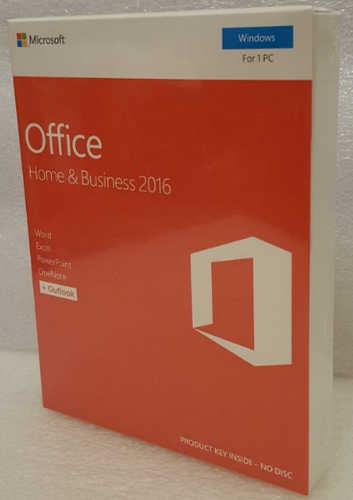 Microsoft Office Home and Business 2016 T5D-02877 Win English APAC DM Medialess P2