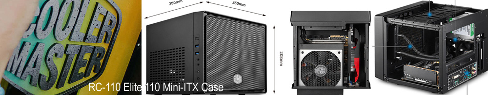 Coolermaster RC-110 Elite 110 Black Mini-ITX Case